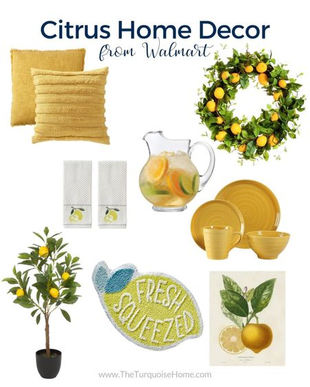 Loving all of this citrus home decor from #walmarthome! Perfect for summer vibes!  @liketoknow.it #liketkit http://liketk.it/3iCx6