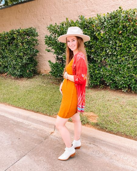 Hat is Flea Style, but linked similar Target dress, sized up 1 size for the bump under $15 and comes in 10 colors! Color says brown online, but deff more burnt orange! Old target shoes, but linked similar ones! http://liketk.it/3joOn #liketkit @liketoknow.it #LTKbump #LTKunder50 #LTKunder100