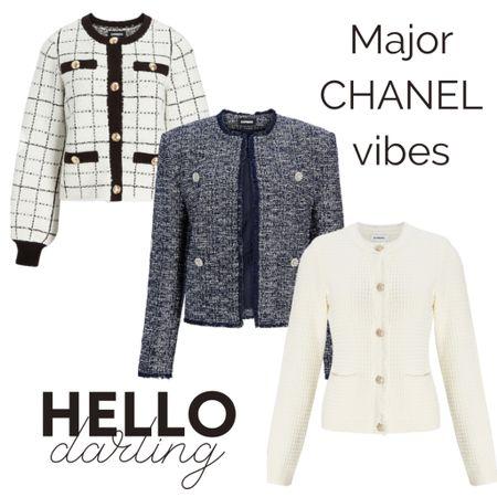 Express is giving off some major CHANEL vibes and I'm here for it 👏🏼  Sweater : Blazer : Chić : Work Wear  #LTKsalealert #LTKSale #LTKworkwear