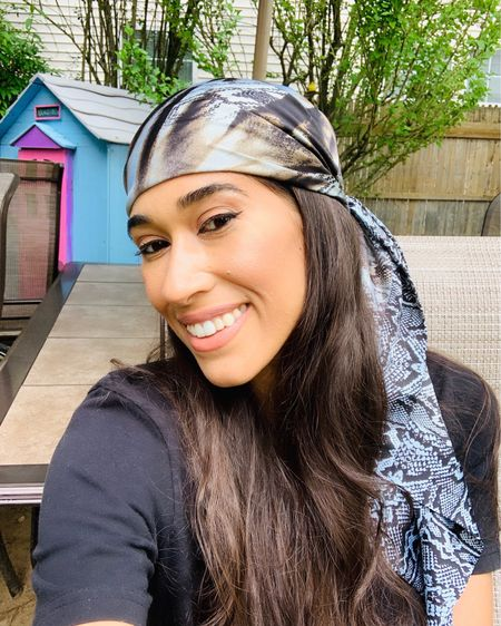 I've been experimenting with different ways to protect my hair from the sun, one of which is wearing silk head scarves! Not only do they protect your hair, they also look so glam when on the beach 🤩 Head over to www.thestylecontour.com to read some of the other things I've been doing to maintain healthy hair!  http://liketk.it/2RwWz #liketkit @liketoknow.it #LTKbeauty  💋