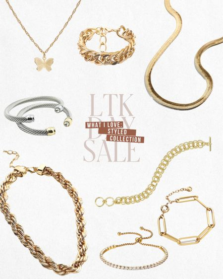 LTK DAY SALE — Exclusive in-app savings from Styled Collection. Save 30% this weekend only when you shop these items and more directly through the LTK app!  — Gold jewelry — Dainty necklace — Gold bracelets — Stackable bracelets  — Designer inspired  ... and more! ✨  #LTKstyletip #LTKDay #LTKsalealert