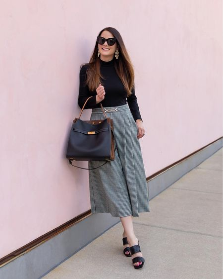 An Eliza J plaid jumpsuit from the Nordstrom Anniversary Sale with a Tory Burch bag and Vince Camuto sandals   #LTKitbag #LTKstyletip #LTKsalealert