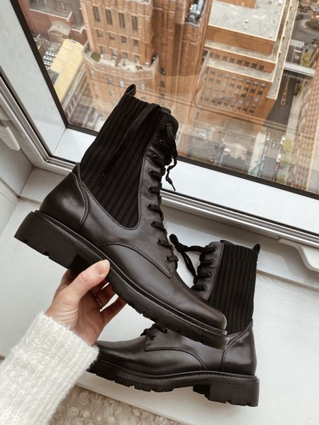 Combat boots by Sam Edelman for fall and winter, these fit true to size   #LTKshoecrush #LTKSeasonal #LTKstyletip