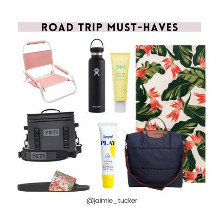 Take a look at some of these road trip must-haves!  | #roadtrip #summermusthaves #BBQessentials #beachessentials #vacationessentials #summersandals #summerskincare #summervacation #JaimieTucker  #LTKtravel #LTKSeasonal #LTKfamily