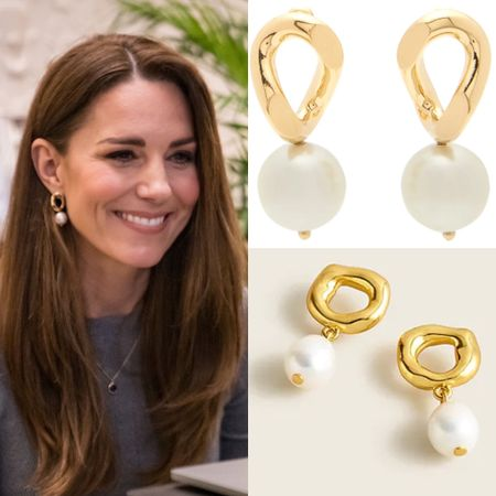 Dupe pearl earrings at JCrew #gold #jewelry #gift  #LTKstyletip