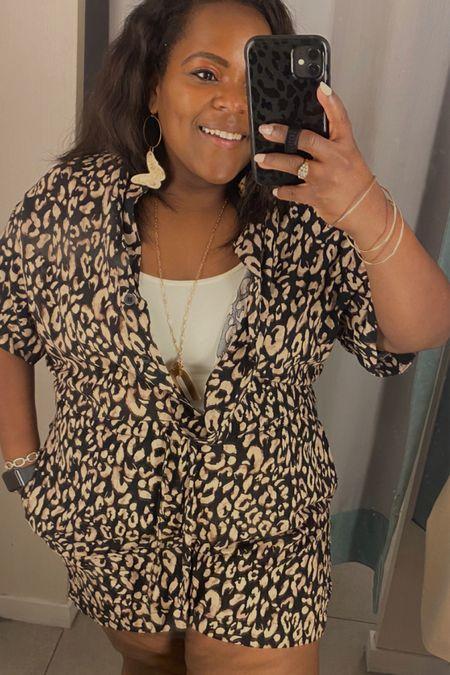 This leopard romper is too cute.   #LTKstyletip #LTKunder50 #LTKtravel