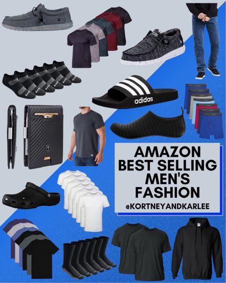 Amazon Best Selling Men's Fashion!  Men's fashion | amazon men's fashion | amazon slides | Adidas slides | hey dude shoes | amazon men's shoes | amazon men's shirt | amazon men's fall style | men's basics | amazon men's clothing | amazon men's shirt | amazon men's jeans | Kortney and Karlee | #kortneyandkarlee @liketoknow.it #liketkit   #LTKunder50 #LTKunder100 #LTKsalealert #LTKstyletip #LTKshoecrush #LTKSeasonal #LTKtravel #LTKmens