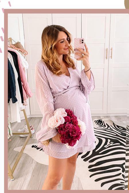 Sommerlicher Schwangerschaftslook in lila 💜  #LTKbaby #LTKbump #LTKunder50