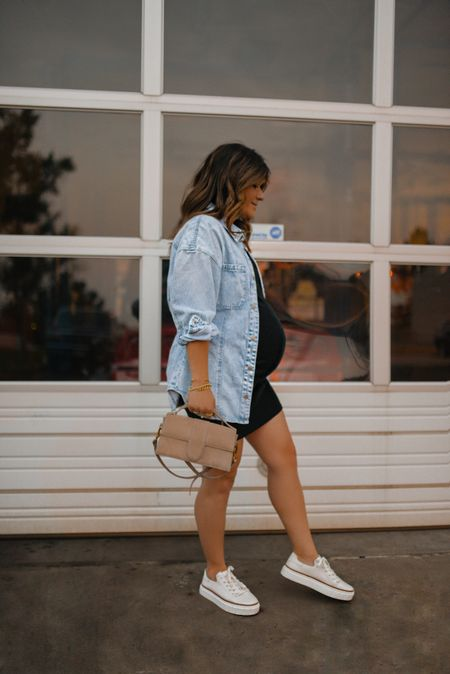 Current go-to dress! I've been wearing this black mini dress via H&M with sneakers so much! My Vince Camuto sneakers are so comfy! They run true to size!   #LTKunder50 #LTKbump #LTKstyletip