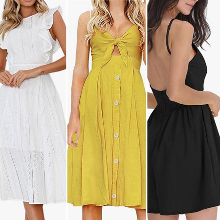 Summer time favorites- Black, white and great colored dresses     You can instantly shop all of my looks by following me on the LIKEtoKNOW.it shopping app http://liketk.it/3hRXP / #liketkit @liketoknow.it #littlewhitedress #summerdress #whitedress #summer2021 #amazondress #lbd #balcksundress #weddingguestdress #babyshowerdress #sundress #primeship #primedress #simplestyle