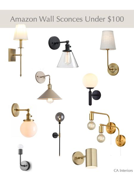 FridAy finds! Such a great round up of affordable wall sconces.   #LTKhome #LTKunder100