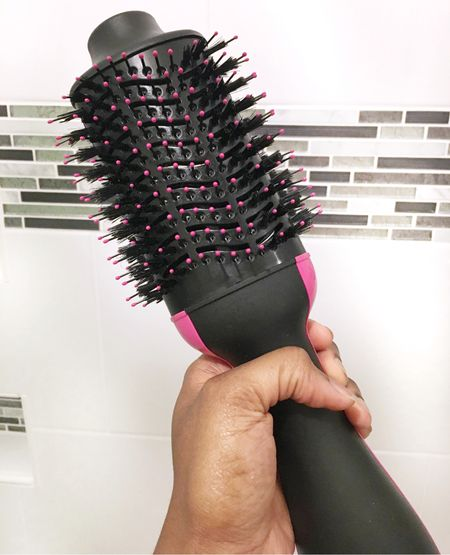 When I don't roller set my hair I use this Revlon blow dry brush. I told one of my friends about it so she bought one and she's been able to cut her drying time in almost half!   http://liketk.it/3cq6C #liketkit @liketoknow.it