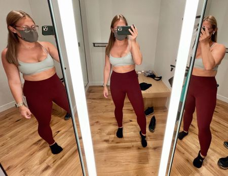 As an avid lululemon Align Pant fan, idk why it took me so long to try on these Nulu Unlimit Tights. Y'all, they're amazing; the stitching at the front just gives it a little something special! My normal Align size was perfect. Color: Red Merlot   #LTKcurves #LTKfit #LTKunder100
