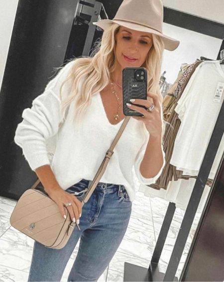The softest sweater ever and it's a beautiful white for fall and winter!!  It runs tts I'm wearing an Xs.   Follow my shop @soheatherblog on the @shop.LTK app to shop this post and get my exclusive app-only content!  #liketkit #LTKunder50 #LTKSeasonal #LTKstyletip @shop.ltk http://liketk.it/3pCJA