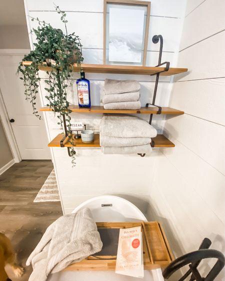 Master bathroom. Spa like bathroom. Bathroom tray. Bathroom shelves. Bathroom towels. Stand alone tub. http://liketk.it/3iMVj #liketkit @liketoknow.it #LTKstyletip #LTKhome #LTKunder100 @liketoknow.it.home Shop your screenshot of this pic with the LIKEtoKNOW.it shopping app