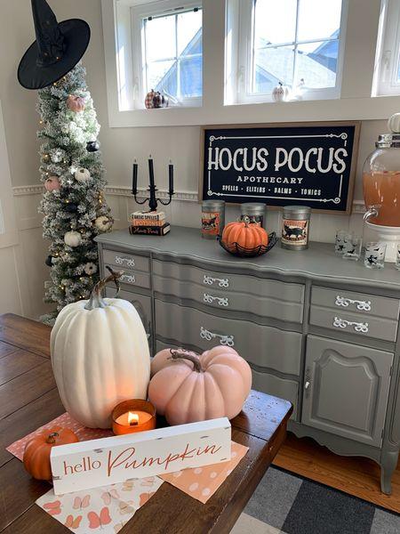 I love the pink pumpkin Halloween decor trend. Whimsical vs. Spookey Halloween for kids ✨🎃🌸👻🍂  #LTKSeasonal #LTKfamily #LTKhome