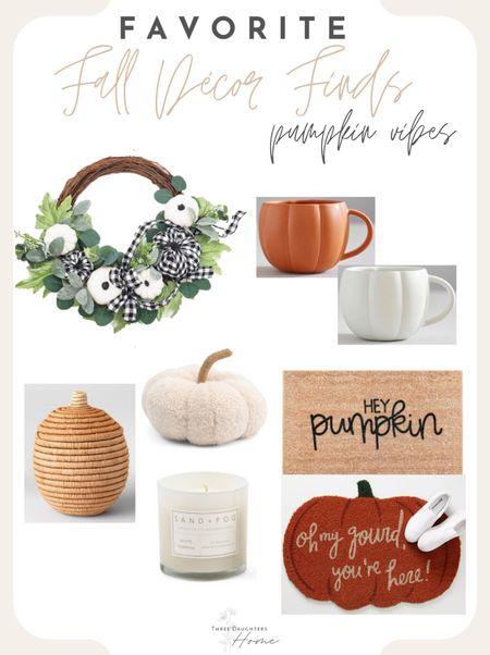 Fall decor, fall decorating, fall style, pumpkins, pumpkin decor, fall favorites, mugs, doormat, cozy  #LTKSeasonal #LTKhome #LTKunder50