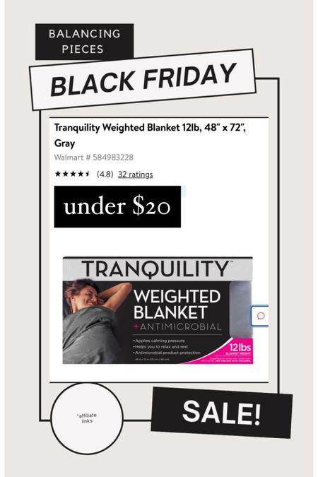 Weighted Blanket, under $20! #blackfriday #blackfridaysale http://liketk.it/32mun #liketkit @liketoknow.it #LTKgiftspo #LTKhome @liketoknow.it.home