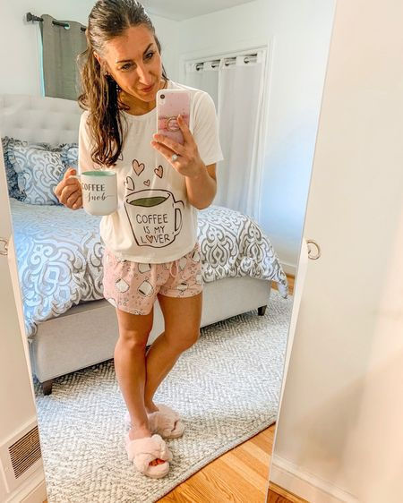 Coffee lover pjs / coffee snob / coffee mug/ fur slippers/ cut and comfy http://liketk.it/2QITZ #liketkit @liketoknow.it #LTKstyletip #LTKunder50 #StayHomeWithLTK You can instantly shop my looks by following me on the LIKEtoKNOW.it shopping app