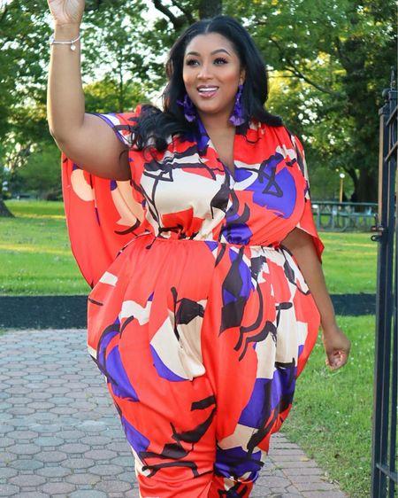 BEAUTIFUL SPRING LOOKS IN STRAIGHT & PLUS SIZES! http://liketk.it/2NPwj #liketkit @liketoknow.it #LTKspring #LTKcurves #LTKbeauty #plus #plussize #nzingaimani #beauty #ltkplus #fashion #style #orange #jumpsuit #cape #spring