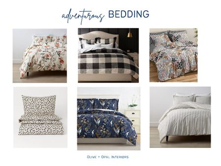 Check out these bold bedding options to update your bedroom style.  Bedding, patterned bedding, duvet covers, master bedroom, bedroom decor, bedroom updates  #LTKhome