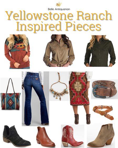 Yellowstone inspired western essentials!  #LTKcurves #LTKitbag #LTKstyletip
