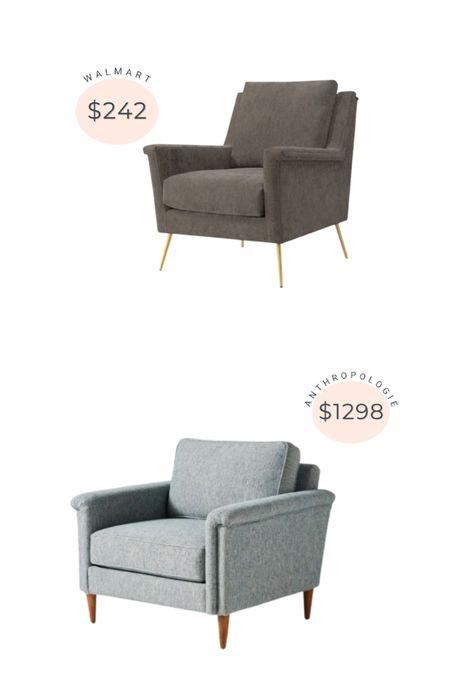 Anthropologie accent chair dupe from Walmart!   #LTKhome #LTKstyletip #LTKsalealert
