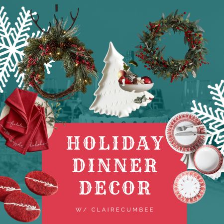 William Sonoma holiday dinner Christmas Dinner Wreath  Coasters Red and white Tree   Follow my shop @clairecumbee on the @shop.LTK app to shop this post and get my exclusive app-only content!  #liketkit #LTKGiftGuide #LTKSeasonal #LTKHoliday @shop.ltk http://liketk.it/3p2n5  #LTKhome #LTKHoliday #LTKSeasonal