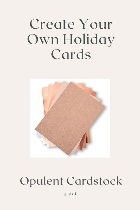 Craft and create your own holiday cards with rose gold cardstock or metallic foils!   #LTKkids #LTKfamily #LTKHoliday