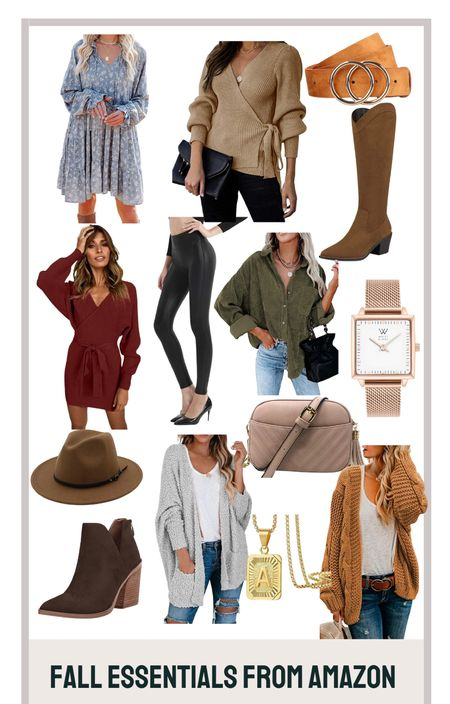 Cardigans, boots, faux leather leggings, hats and jewelry. All under $60   #LTKGiftGuide #LTKunder100 #LTKstyletip