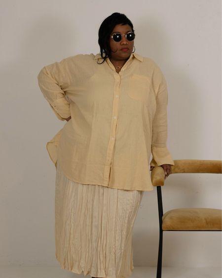 linen shirt and skirt http://liketk.it/3gzWC #liketkit @liketoknow.it #LTKcurves #LTKstyletip #LTKunder50 @liketoknow.it.europe @liketoknow.it.family