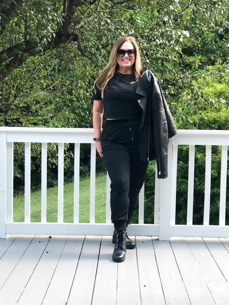 It is #FashionFriday join and check out my friends looks  @distinctlysouthernstyle @joyousstyling @kandidlykim @deborahsorlie @mymidlifestylist @jaxvegancouple @patrishpages @roomtoveuve @robinlamonte @classicstylebylisa_ @gwenliveswell @overfiftyandblessed     The ease and comfort of the black travel set. Styled both street and casual… perfect for travel, Lounge  and errands….. Which style is your favorite?  #LTKHoliday #LTKSeasonal #LTKGiftGuide