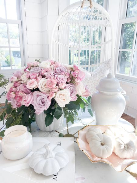 If you caught my #FloralFriday yesterday, you saw this $15 pumpkin jar that I used as a vase! Perfect for fall! 🌸 Happy Saturday!   #LTKhome #LTKunder100 #LTKunder50