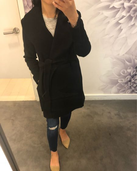This wrap collar coat fits true to size (I tried in my usual size) and it's currently 50% off + FREE shipping at Ann Taylor with code HURRYUP. The material is more substantial making it a warmer coat. @liketoknow.it http://liketk.it/2xQZH #liketkit #LTKsalealert #LTKshoecrush #LTKunder100 #LTKunder50