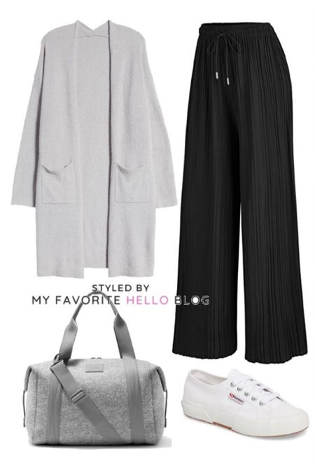 Athleisure soft and flowy athflow outfit. Relaxed casual wide leg pants for weekend http://liketk.it/35f8v #liketkit @liketoknow.it #amazonfinds   #LTKunder50 #LTKunder100 #LTKsalealert