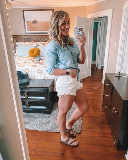 These $15 Target shorts are amazing and so comfy! I ordered three colors. They fit TTS, loose in the 🍑 but fitted in the high waist. @liketoknow.it #liketkit http://liketk.it/3aJeJ