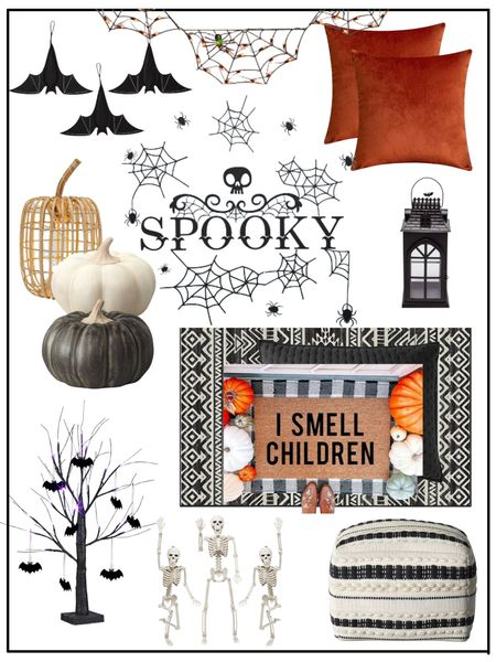 Halloween decor          Halloween / halloween decor / halloween decorations / home decor / fall decor / target style / amazon home / amazon finds / etsy / walmart finds #ltkseasonal doormat / front porch / pillow covers   #LTKHoliday #LTKhome #LTKunder50