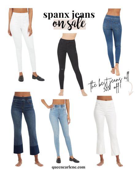 Favorite Spanx jeans on sale 30% off through end of day! I wear a size L! http://liketk.it/3gxY6 #liketkit @liketoknow.it #LTKunder100 #LTKsalealert #LTKcurves    Spanx, Shapewear, plus size, jeans, Jeggings, jean leggings, mid size, midsize, size 12, size 14