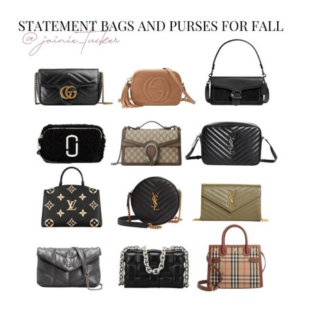 Statement Bags and Purses for Fall. Check out my top picks! | #handbags #fallpurses #fallbags #falloutfit #crossbodybag #shoulderbag #fallhandbags #seasonalpurses #designerbags #bestsellers #YSL #Gucci #JaimieTucker  #LTKitbag #LTKstyletip