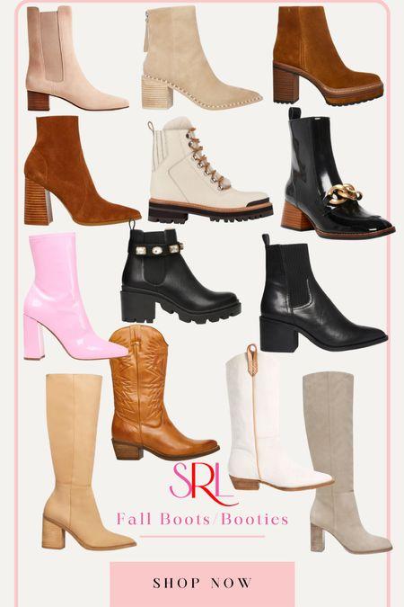 round up of trendy fall booties and boots   #LTKunder100 #LTKshoecrush #LTKSeasonal