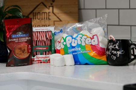 What's in your cup this holiday season season? I love making hot chocolate with all the extras to spice up the holiday cheer!