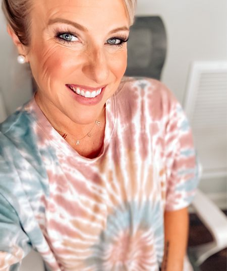 Give me all the tie dye and laidback style vibes!! Whether I'm working in the office, chilling on the couch with my boys, or on a road trip adventure with my husband, tie dye is my fave!  Check out my favorites here, and grab your own tie dye tee so we can match! 😍    #LTKunder50 #StayHomeWithLTK #LTKworkwear