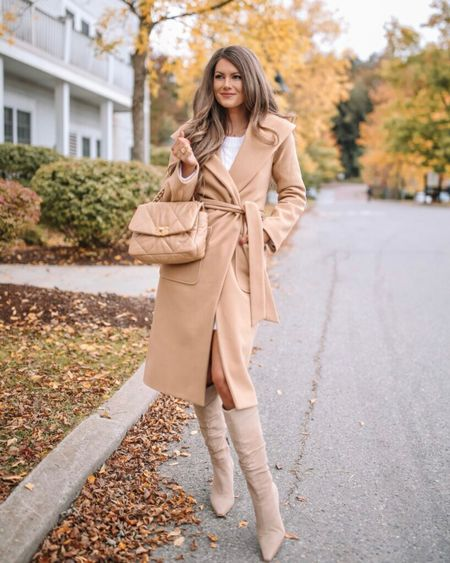 The Kennedy Belted Coat Camel  XS, TTS, cmcoving, Caitlin Covington, Pink Lily Collection, fall fashion, use code CAITLIN20 for 20% off!   #LTKunder100 #LTKSeasonal #LTKsalealert