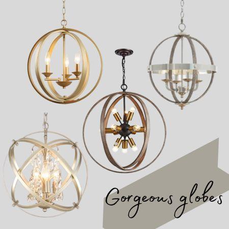 Gorgeous globe chandeliers    http://liketk.it/3k3lI   #LTKhome #liketkit #LTKlighting #lights   @liketoknow.it @liketoknow.it.home    Download the LIKEtoKNOW.it shopping app to shop this pic via screenshot