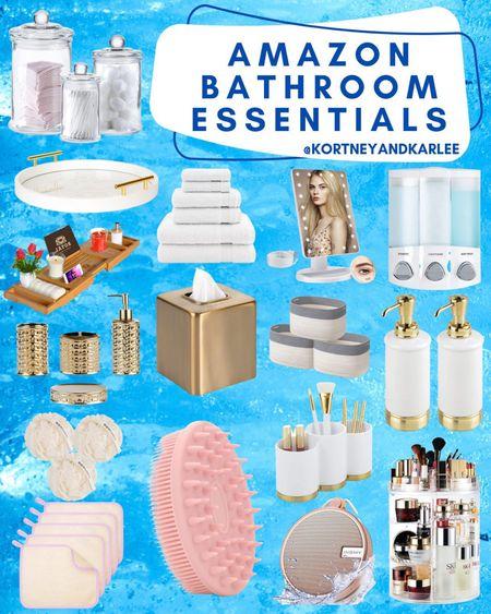 Amazon Bathroom Essentials!  Amazon bathroom decor | amazon bathroom home decor | bathroom decor from amazon | amazon home decor | affordable bathroom decor | affordable bathroom home decor | bathroom decor | amazon finds | amazon home finds | amazon home favorites | amazon bathroom must haves | amazon bathroom refresh | Kortney and Karlee | #kortneyandkarlee #LTKunder50 #LTKunder100 #LTKsalealert #LTKstyletip #LTKSeasonal #LTKbeauty #LTKhome @liketoknow.it #liketkit