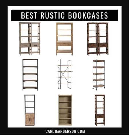 Best rustic bookcases for back to school, your living room, family room, bedroom, home office or dining room!! ❤️   #LTKbacktoschool #LTKhome