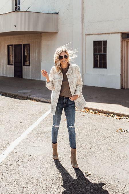 Under $140 western shacket for fall outfits 🤍✨  #LTKunder100 #LTKstyletip #LTKSeasonal