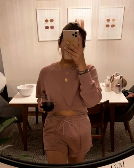 Today calls for a cozy lounge set and a big mf glass of wine 🍷   http://liketk.it/3je2H @liketoknow.it #liketkit #LTKstyletip #LTKunder100 #LTKunder50
