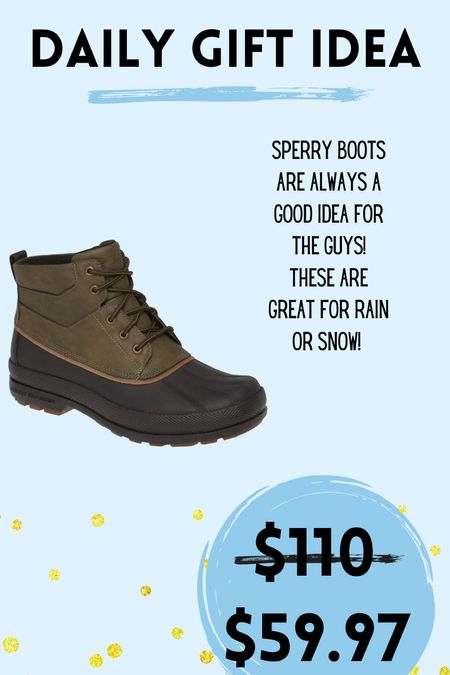 Gift idea for the guys in your life! Sperry snow or rain boots  #LTKmens #LTKHoliday #LTKGiftGuide
