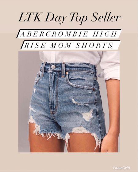 Abercrombie high rise mom shorts   #LTKunder50 #LTKsalealert #LTKday  http://liketk.it/3hx2s #liketkit @liketoknow.it   Abercrombie and Fitch  Spring style  Summer style  Vacation style  Jean shorts  Mom shorts